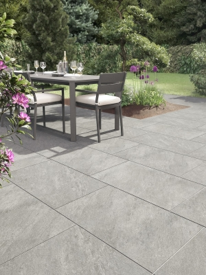 Argento Gris Virtue Vitrified Porcelain Paving Slabs - 900x600 Pack