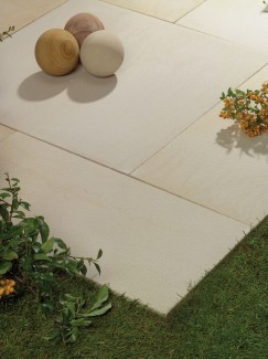 Arabian Sand Textured & Sawn Sandstone Paving - 900x600 Pack