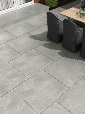 Argento Gris Virtue Vitrified Porcelain Paving Slabs - 600x600 Pack