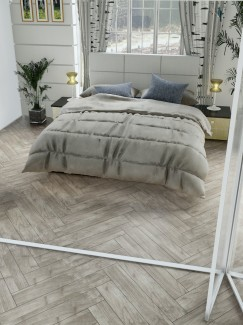 Atelier Teak Wood Effect Herringbone Floor & Wall Tiles - 900x150(mm)