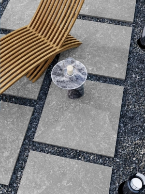 Belgium Grey Virtue Outdoor Porcelain Paving Slabs - 605x605 Pack