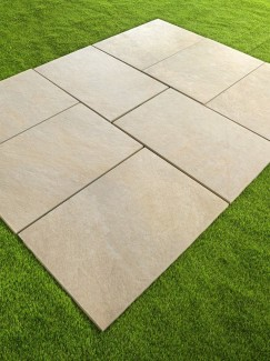 Bianco Quartz Vitrified Porcelain Paving slabs - 900x600 pack