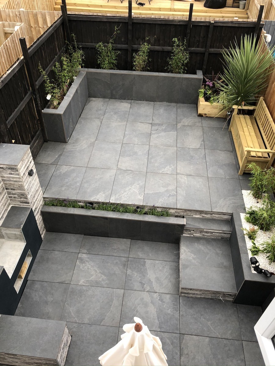 Brazil Slate Effect Vitrified Porcelain Paving Slabs - 900x600 pack
