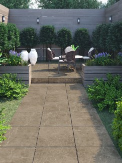 Chelsea Taupe Virtue Vitrified Porcelain Paving slabs - 600x600 pack