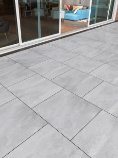 Plato Grey Virtue Vitrified Porcelain Paving Slabs - 800x800 Pack