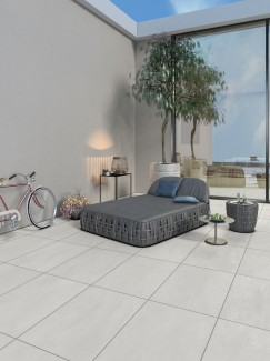 Luna Off White Virtue Vitrified Porcelain Paving Slabs - 900x600 Pack