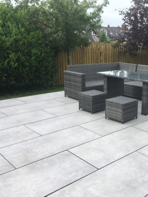 Eclipse Silver King Size Outdoor Porcelain Paving Slabs - 1200x600 Pack