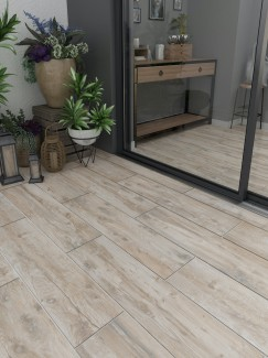 Cedar Elm Wood Virtue Vitrified Porcelain Paving Slabs- 1200x300 Pack