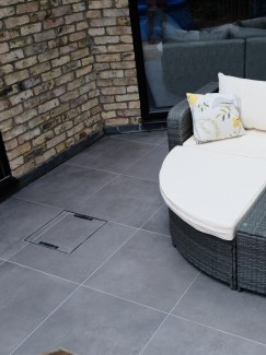 Eclipse Mid Grey Virtue Vitrified Porcelain Paving Slabs - 600x600 Pack