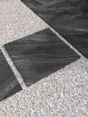 Esparada Nero Marble Effect Outdoor Porcelain Paving Slabs - 600x600 Pack