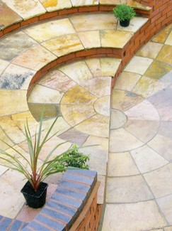 Fossil Mint Indian Sandstone Circle Feature - 2.7m Diameter