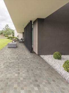 Grigio Cobble Effect Outdoor Porcelain Paving Slabs- 600x600