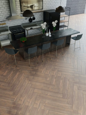Atelier Walnut Herringbone Indoor Tiles - 900x150(mm)