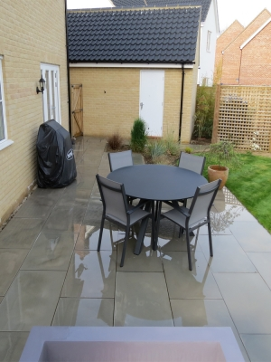 Grey Smooth & Sawn Sandstone Paving - 900x600 Pack