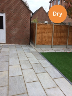 Kandla Grey Indian Sandstone Paving Slabs - 900x600 Pack