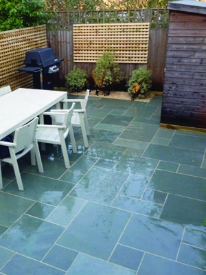 Kota Blue Sawn & Honed Limestone Paving - Mix Patio Pack