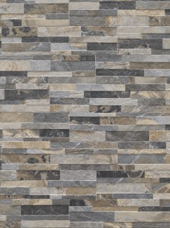 Multicolour Slate Split Face Effect Outdoor Porcelain Wall Tiles - 150x610x7-11(mm)