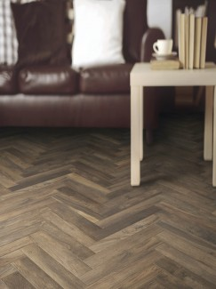 Living Noce Italian Herringbone Wood Effect Floor Tile - 450x75(mm)