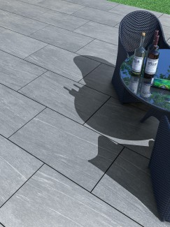 Pietra Grey Virtue Vitrified Porcelain Paving Slabs - 900x600 Pack