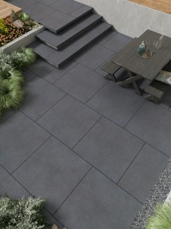 Silver Beach Virtue Vitrified Porcelain Paving slabs - 600x600 pack