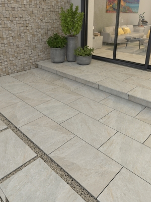 Valencia Beige Virtue Vitrified Porcelain Paving Slabs - 900x600 Pack