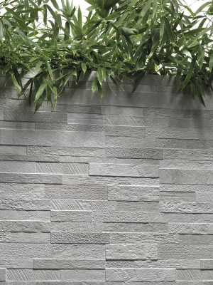 White Quartz Split Face Effect Outdoor Porcelain Wall Tiles - 150x610x7-11(mm)