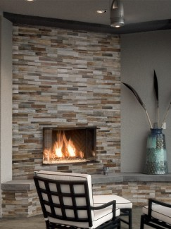 Multicolour Wood Split Face Effect Outdoor Porcelain Wall Tiles - 150x610x7-11(mm)